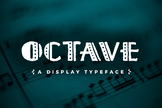 Octave Display - A Hand-Drawn Font (Open Type Font)