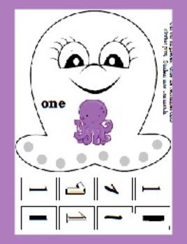 Octavia Octopus Beginning Counting - 0 to 21 - Fine Motor