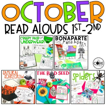 October Read-Alouds 1-2 Bundle #2: Interactive Read-Aloud Lesson Plans