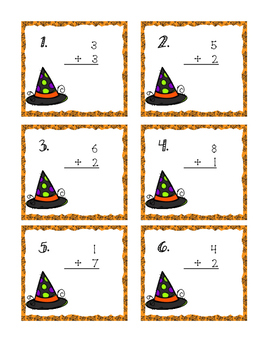 October 1 Digit Task Cards
