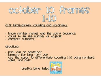 October 10 frames
