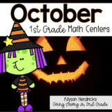 October 1st Grade Math Centers with Task Cards
