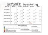 October 2013 Behavior Log