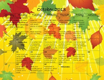 October 2013 Homework Calendar