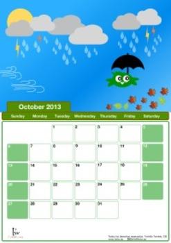 October 2013 school calendar