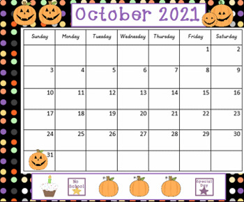 October 2018 Seasonal Activboard Morning Calendar Activities