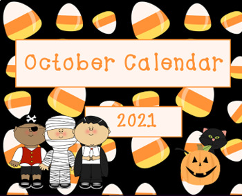 October 2016 Seasonal Activboard Morning Calendar Activities