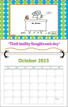 October 2015  (A 1-Month Inspirational Calendar for Teachers)