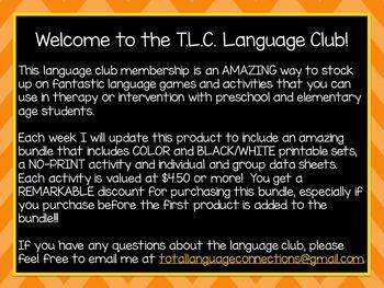 October 2015 Language Club