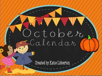 October 2016 First Grade ActivInspire Calendar & More