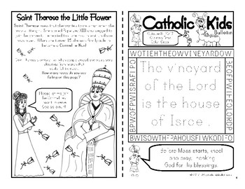 October 2017 Catholic Kids Bulletin