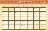 October 2018 Calendar - 11x17