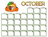 October 2020 Calendar Pack