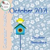 October '21 Calendar  -  Southern Hemisphere D'Nealian