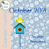 October '21 Calendar  -  Southern Hemisphere Print