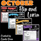 October Flip and Learn Reading Passages and Comprehension