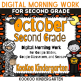October 2nd Grade Morning Work for Google Classroom