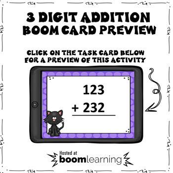 Halloween 3 Digit Addition Boom Cards