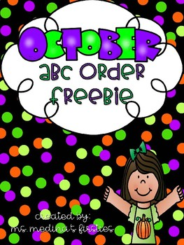 October ABC Order