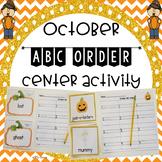October ABC Order Center