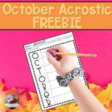 October Acrostic Poem