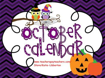 October Kindergarten ActivInspire Calendar