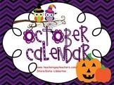 October Kindergarten ActivInspire Calendar