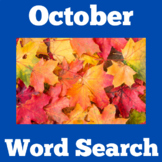 October Worksheet Word Search