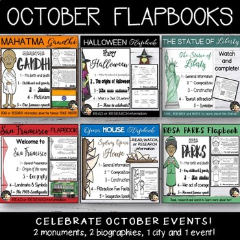 October Activities - Cultural Flapbooks Bundle