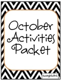 October Activities Packet