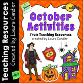 October Activities and Printables   Halloween and Fall Themed Resources