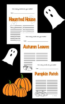 October Activity Packet Bundle