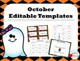 October Activity Templates