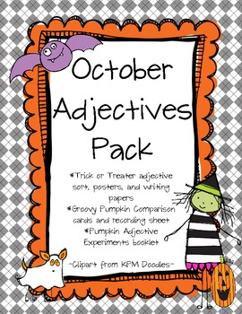October Adjective Pack