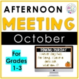 October Afternoon Meeting