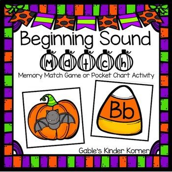 October Alphabet Beginning Sound Match