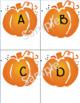 October Alphabet Cards