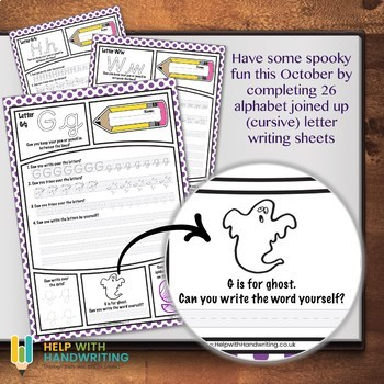 October Alphabet Worksheets