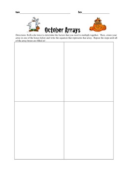 October Arrays (Halloween-themed multiplication practice)