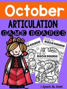 October Articulation Game Boards