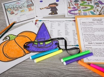 October & Halloween Articulation Therapy Plans