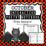 October Bat Poem & Activities {FREE Sample from Interactive Poetry Notebook}