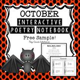 October Bat Poem & Activities {FREE Sample from Interactiv