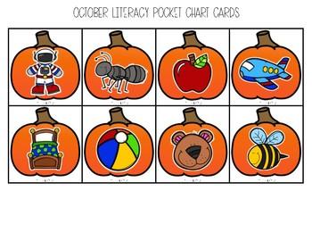 October Beginning Sound Pocket Chart Fun