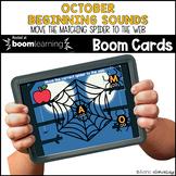 October Beginning Sounds BOOM CARDS™ | Digital NO-PREP | D