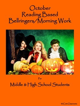 October  Bellringers for Middle & High School Students: Reading Based