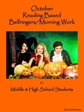 October  Bellringers for Middle & High School Students: Re
