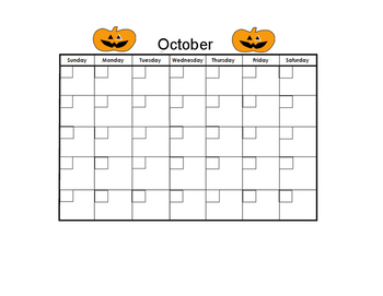 October Blank Calendar