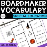 October Vocabulary Unit- Boardmaker