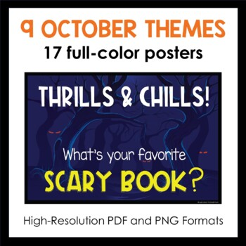 October Book Display Posters and Readalike Bookmarks